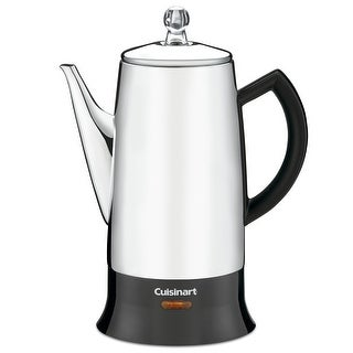 Cuisinart PRC-12 Classic 12-Cup Stainless-Steel Percolator, Stainless & Black