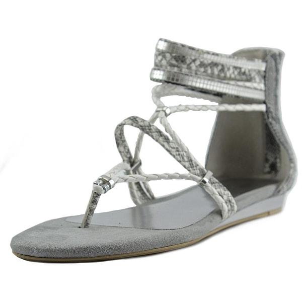 Very Volatile Larissa Women Open Toe Synthetic White Gladiator Sandal