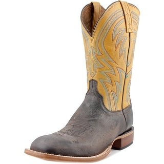Lucchese Alan Men Square Toe Leather Western Boot