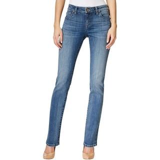 Kut Womens Stevie Straight Leg Jeans Classic-Rise Casual - 16