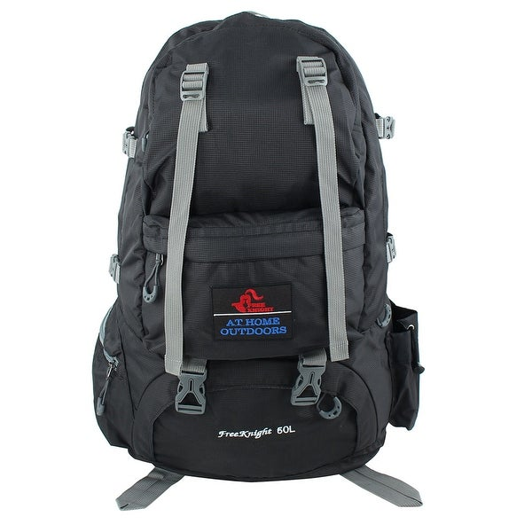 Unique Bargains FreeKnight Authorized Outdoor Travelling Bag Camping Hiking Backpack Black 50L