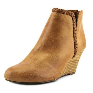 Report Giddi Women  Round Toe Synthetic Tan Ankle Boot