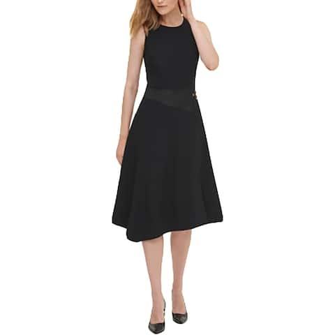 Calvin Klein Womens Wear to Work Dress Office Professional - Black