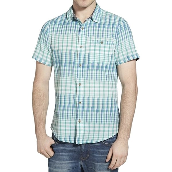 620345688df Shop 1901 NORDSTROM NEW Green Blue Mens Size XL Check Button Down Shirt -  Free Shipping On Orders Over  45 - Overstock.com - 16261969