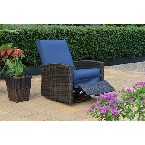 Oceanside Swivel Recliner with Sunbrella Cushions