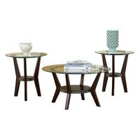 Ashley T210-13 Set Of 3 Fantell Dark Brown Occasional Table Set