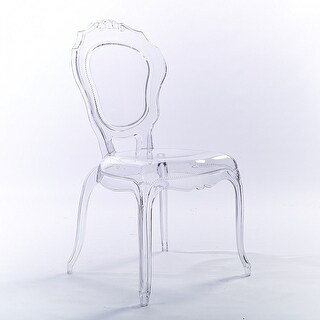 2xhome - One Clear Plastic Chairs Side Chairs Dining Chair Modern