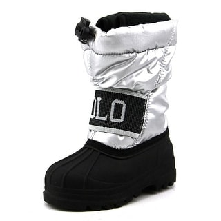 Polo Ralph Lauren Jakson Youth Round Toe Canvas Silver Snow Boot