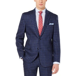 Link to Tommy Hilfiger Mens Sportcoat Linen Plaid - Navy Similar Items in Sportcoats & Blazers