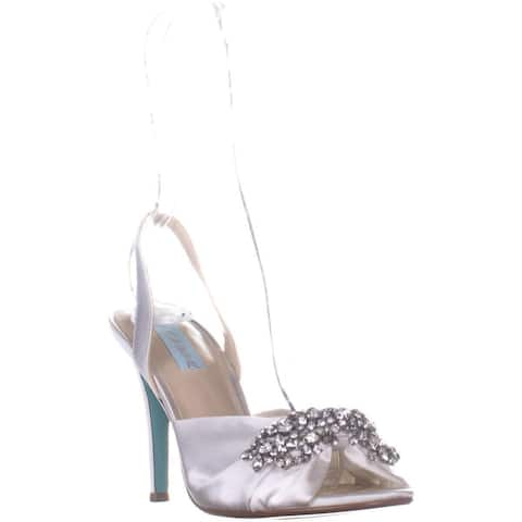 Blue by Betsey Johnson Briel Slingback Sandals, Ivory
