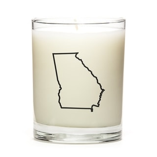 State Outline Soy Wax Candle, Georgia State, Fresh Linen