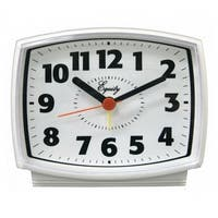 Equity 33100 Electric Analog Alarm Clock with White Case & Lighted Dial