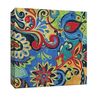 "PTM Images 9-146858  PTM Canvas Collection 12"" x 12"" - ""Celebration I"" Giclee Flowers Art Print on Canvas"
