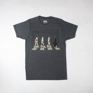 Star Wars Darth Vader & Stormtroopers Walking Abbey Road Men's Black T-shirt
