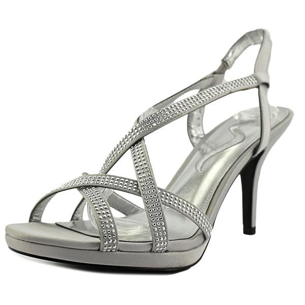 Nina Roisin Women Open Toe Canvas Silver Sandals