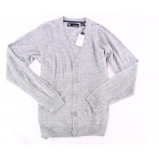 Weatherproof Gray Mens Size Medium M Button-Front Cardigan Sweater