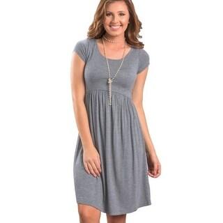 Womens Loose Cosy Short Sleeve Dress D2
