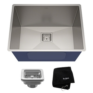 KRAUS Pax Stainless Steel 24 inch Undermount Laundry Utility Sink