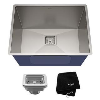 Kraus KHU24L Undermount 24 inch 1-Bowl Stainless Steel Kitchen Sink