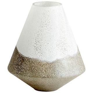 """Cyan Design 10027  Reina 10"""" Diameter Glass Vase - Tuscan Scavo"""