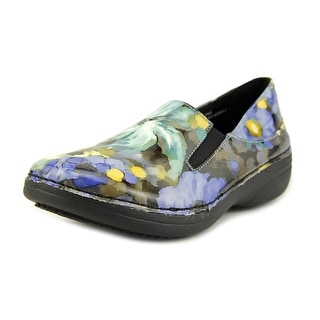 Spring Step Pro Ferrara Women Round Toe Leather Blue Work Shoe