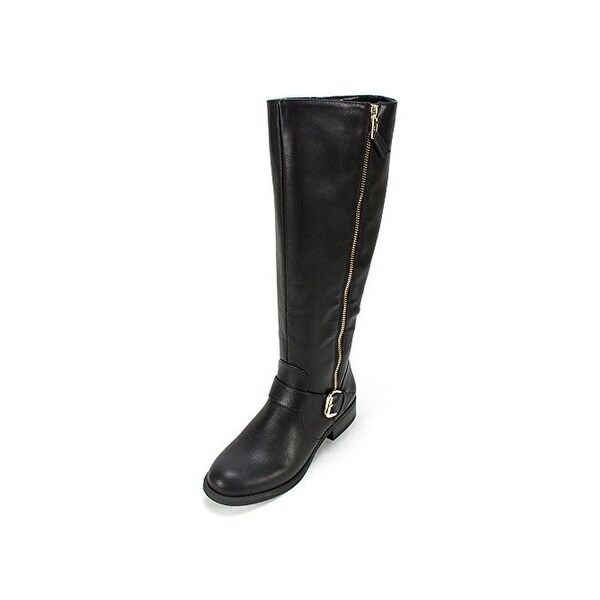 White Mountain Womens Lurch Riding Boots Faux Leather Knee-High