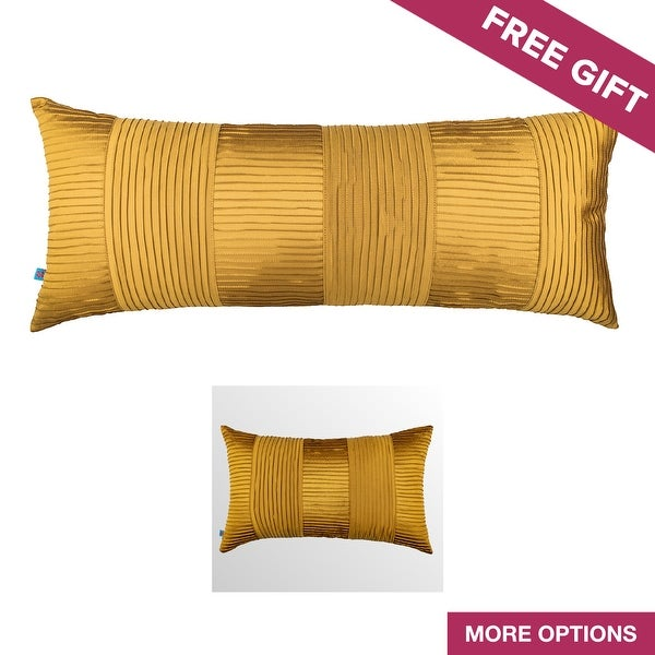 Shop Classic Glam Solid Yellow Textured Decorative Handmade Throw Enchanting Yellow Decorative Bed Pillows