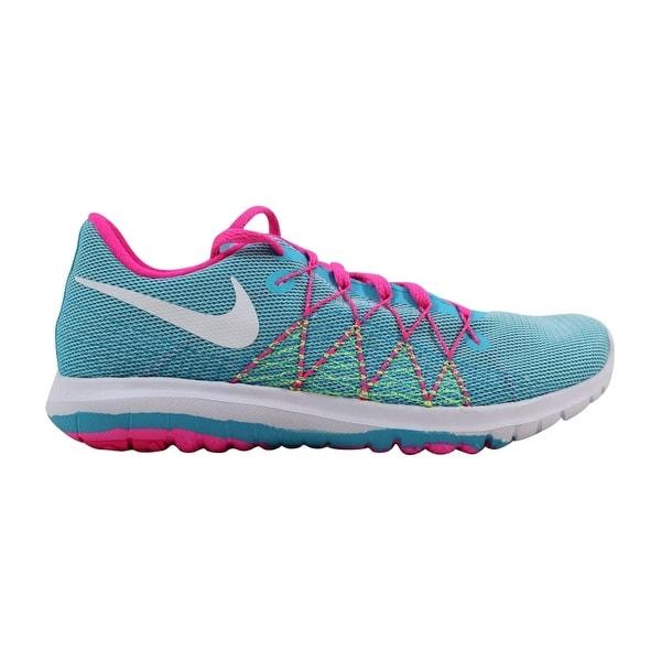 reputable site da279 437fb Nike Flex Fury 2 Gamma Blue White-Ghost Green-Pink Blast 820287-. Click to  Zoom