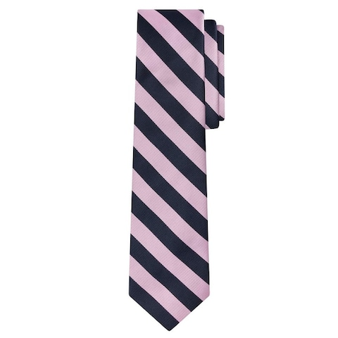 Jacob Alexander Stripe Woven Men's Reg College Bar Stripe Tie - One Size