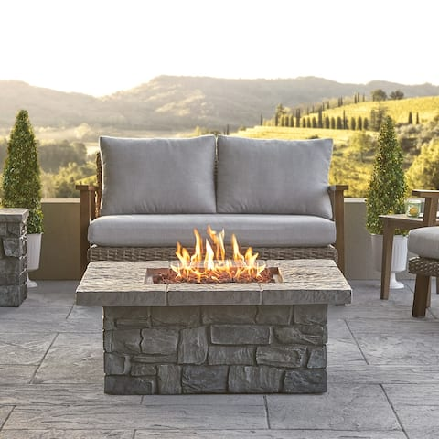 Sedona Sq. Propane Fire Table in Gray with NG Conversion