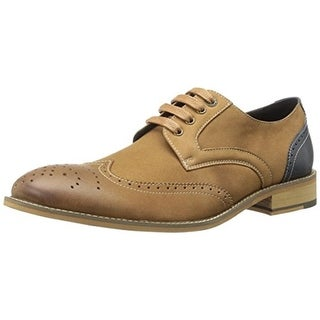 Bugatchi Mens Gershwin Leather Contrast Trim Oxfords - 8 medium (d)