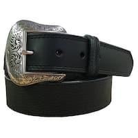 G-BAR-D Western Belt Mens Distressed Leather Tanned Tabs