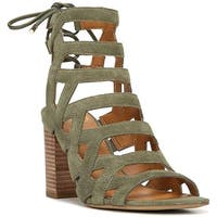 Franco Sarto Womens Connie Leather Open Toe Casual Strappy Sandals