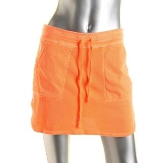 Polo Ralph Lauren Womens French Terry Logo A-Line Skirt