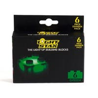 Light Stax LED Light-Up Building Blocks 6-Piece Expansion Pack: Green - Multi