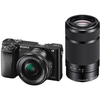 Sony Alpha a6000 Mirrorless Camera with 16-50mm & 55-210mm Lenses (Black)