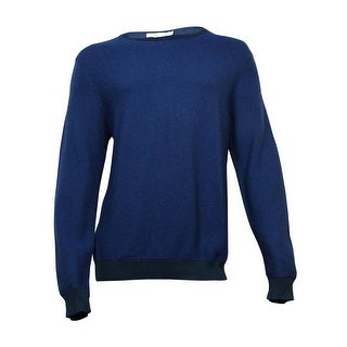 Calvin Klein Men's Cotton Modal Blend Sweater (L, Officer Navy) - S