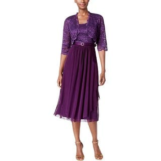 R&M Richards Womens Dress With Cardigan Mesh Glitter|https://ak1.ostkcdn.com/images/products/is/images/direct/e8115cf12a9a1d17f637dfe1a35ec3a9768b3b71/R%26M-Richards-Womens-Dress-With-Cardigan-Mesh-Glitter.jpg?impolicy=medium