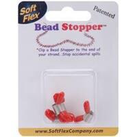 Plastic Topped Metal - Mini Bead Stoppers 4/Pkg