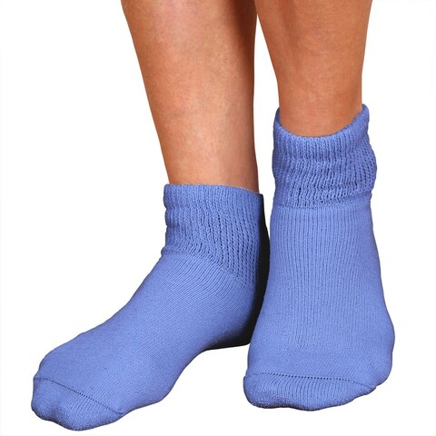 Women's 3 Pack Sensitive Feet Quarter Crew Socks - Medium