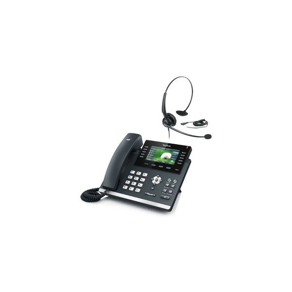 Yealink SIP-T46G with YHS 33 Ultra-Elegant Gigabit IP Phone with Headset