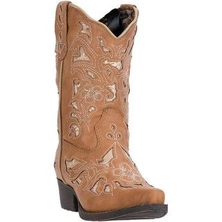 Laredo Western Boots Girls Sharona Snip Toe Cowgirl Brown LC2284