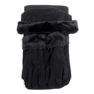 Link to Women's Solid Fleece 3-Piece gloves scarf Hat Winter Set Similar Items in Scarves & Wraps