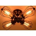 4 light antique industrial ceiling lamp edison ceiling light - Thumbnail 2