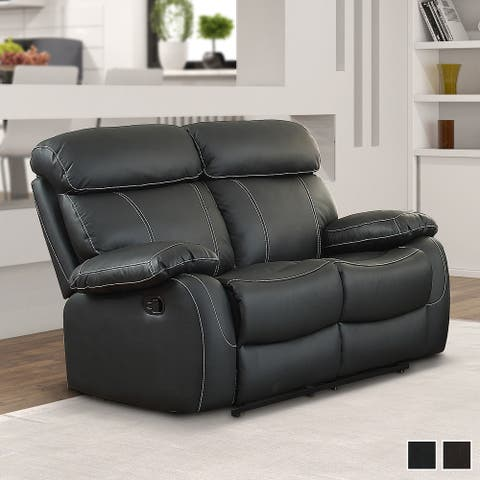 Stratus Leather Double Reclining Loveseat