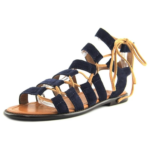 f190025bb830 Shop Frye Blair Side Ghillie Women Open Toe Leather Blue Gladiator ...