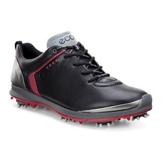 Ecco Mens Golf Biom G 2 Black/Brick 45 Euro 11-11.5 US Golf Shoes