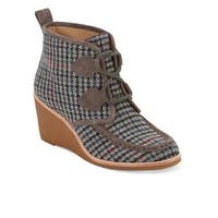 G.H. Bass & Co. Womens Rosa Leather Wedge Heel Bootie