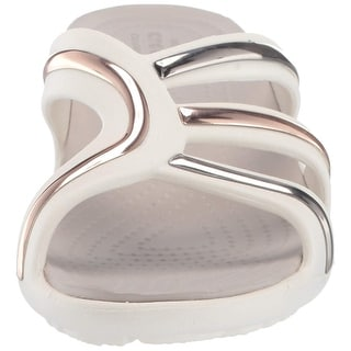 Link to Crocs Women's Sanrah Metal Block Strap Wedge Sandal Similar Items in Women's Shoes