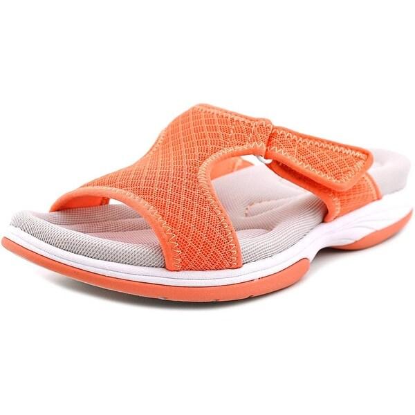 Easy Street Garbo Women Open Toe Canvas Slides Sandal